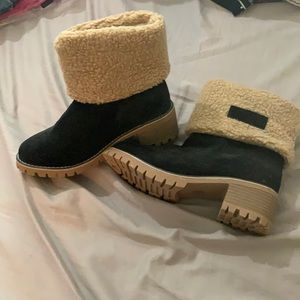 Black and Tan short boots